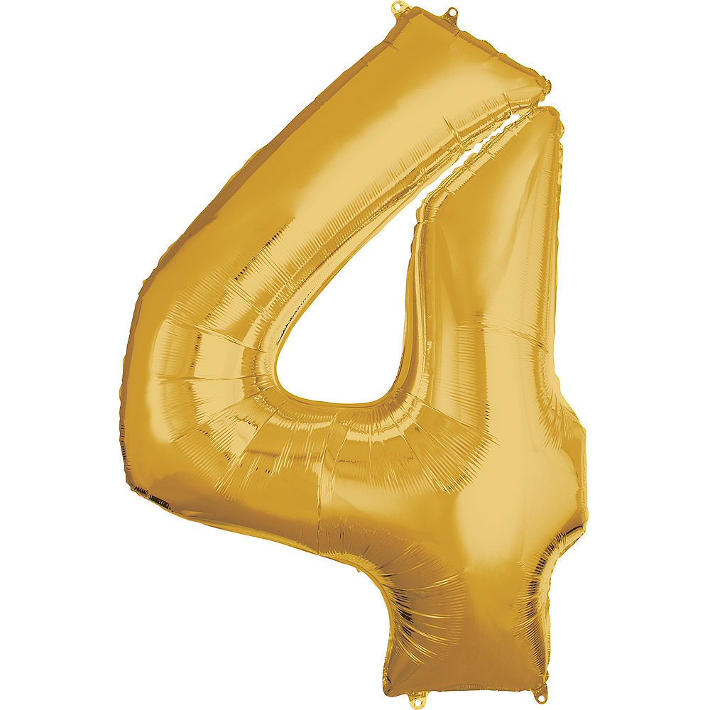 50in Gold Number Balloon (4) Image #1