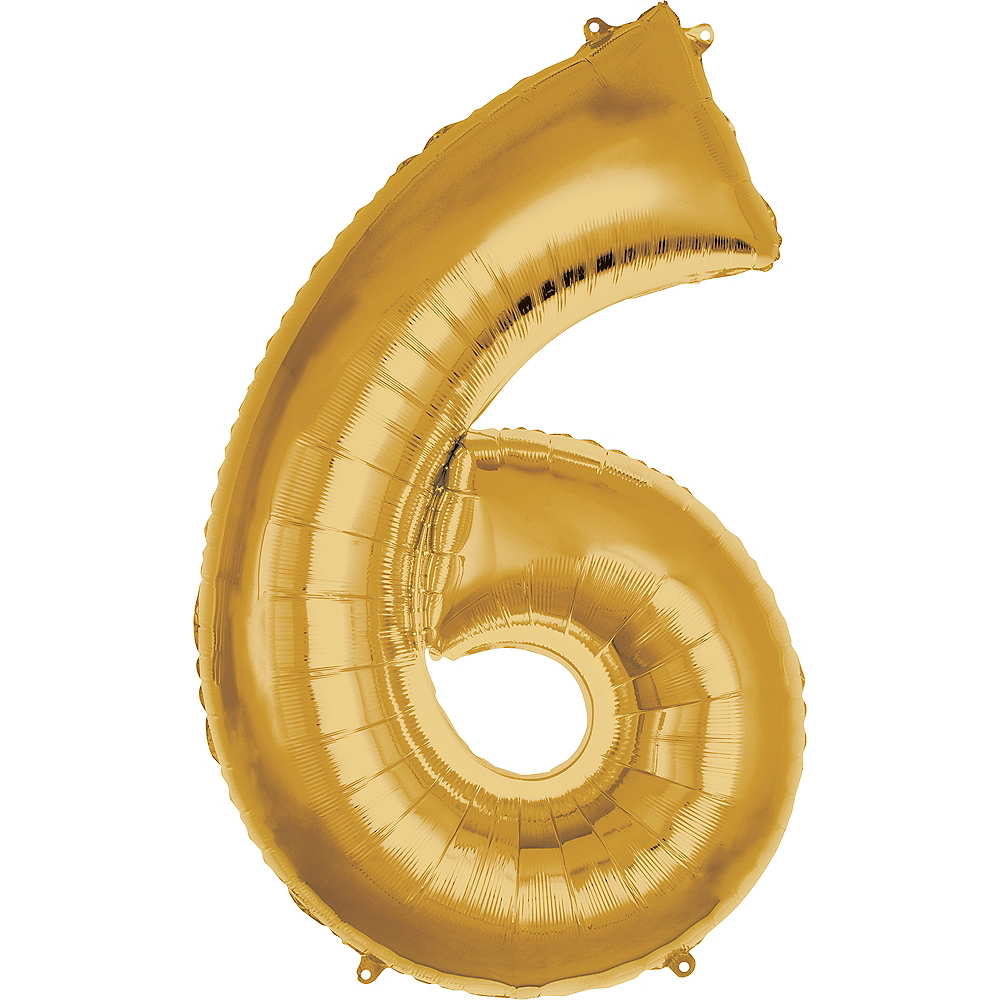 Nav Item for 50in Gold Number Balloon (6) Image #1