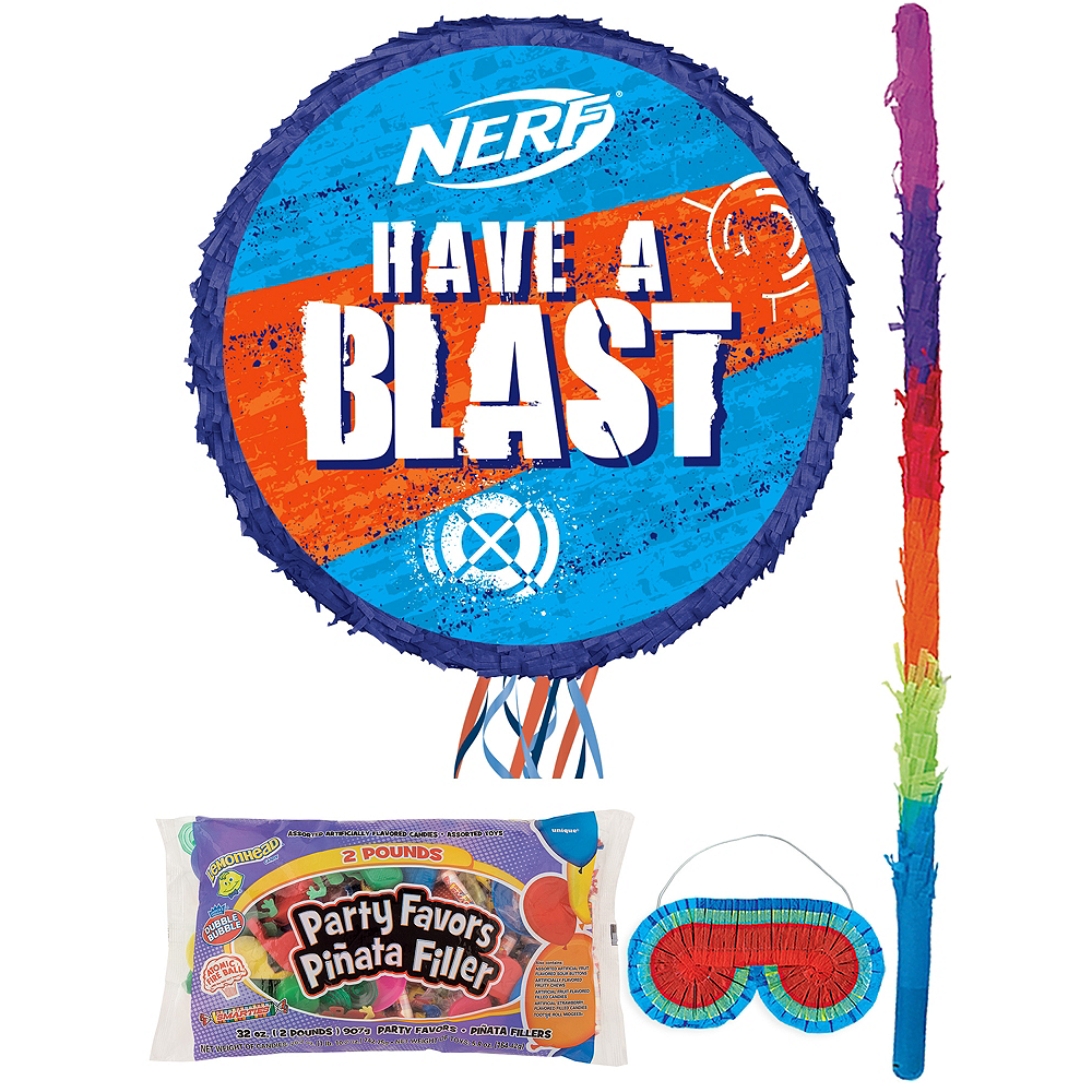 Nerf Pinata Kit with Candy & Favors Image #1