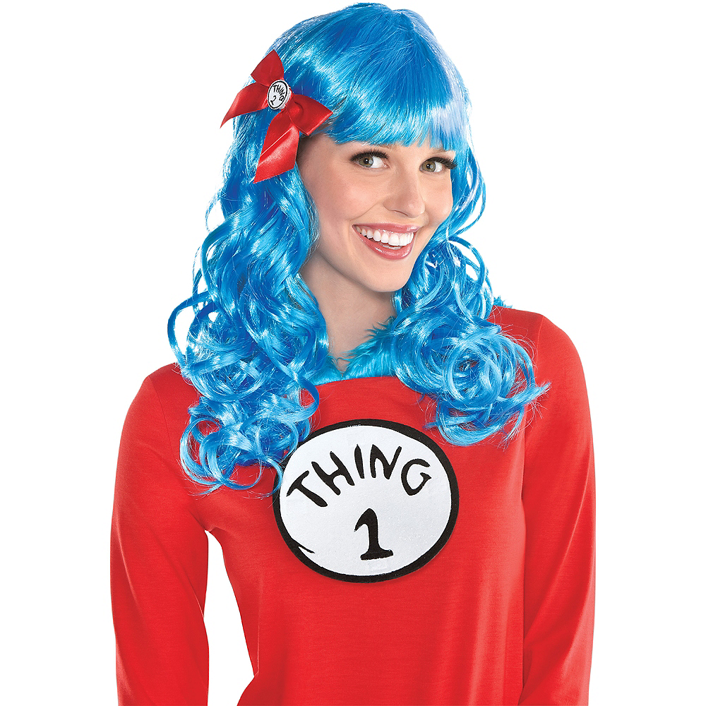 Curly Thing 1 & Thing 2 Wig - Dr. Seuss Image #1