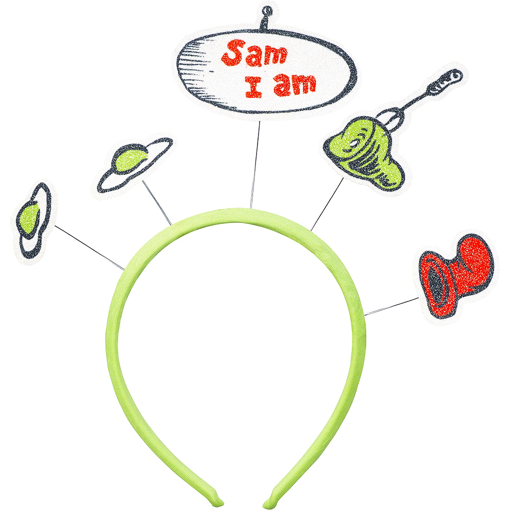 Glitter Green Eggs & Ham Headband – Dr. Seuss Image #1