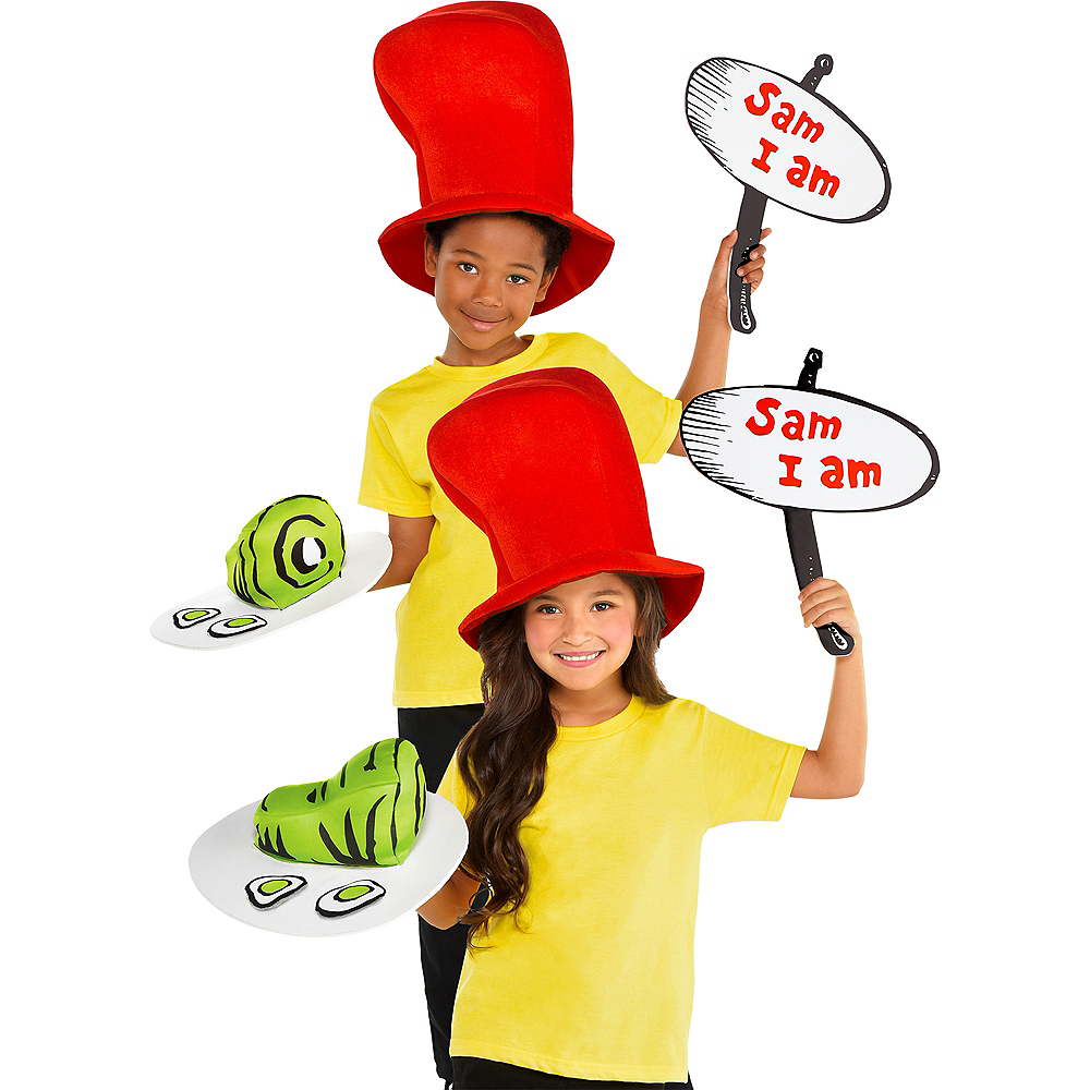Child Green Eggs & Ham Costume Accessory Kit - Dr. Seuss Image #1