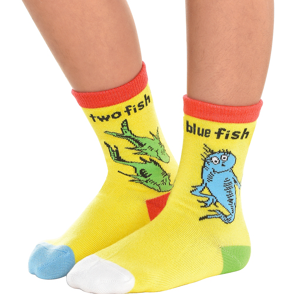 Adult One Fish Two Fish Ankle Socks – Dr. Seuss Image #2