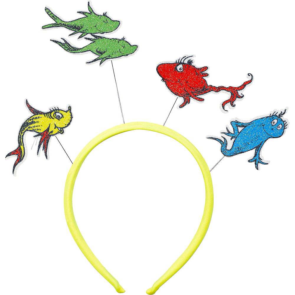Nav Item for Glitter One Fish Two Fish Red Fish Blue Fish Headband - Dr. Seuss Image #1