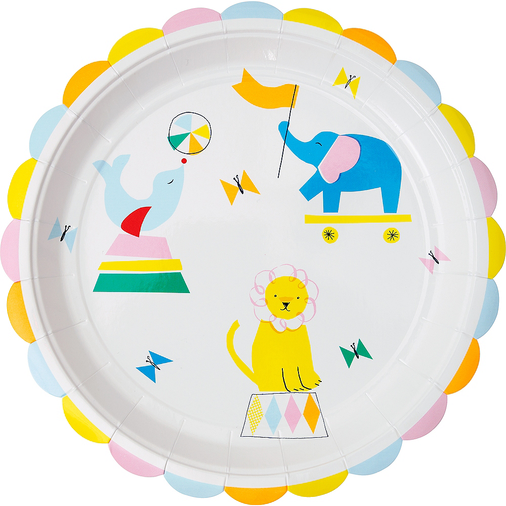 Silly Circus Lunch Plates 12ct Image #1
