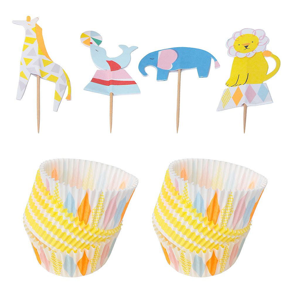 Silly Circus Cupcake Decorating Kit for 24 Image #1