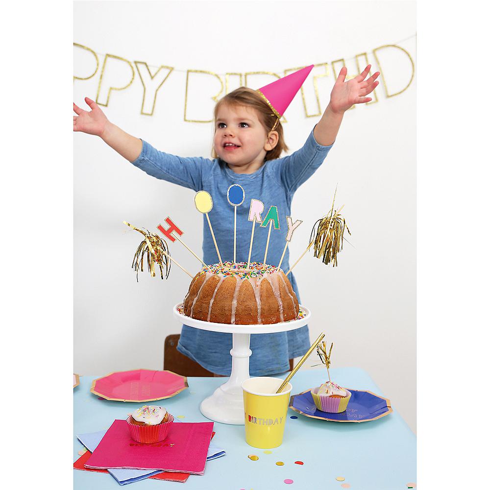 Glitter Hooray Cake Picks 9ct Image #2
