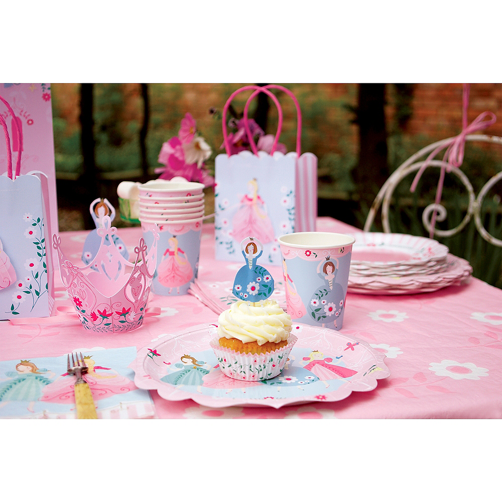 Pink Princess Lunch Plates 12ct Image #2