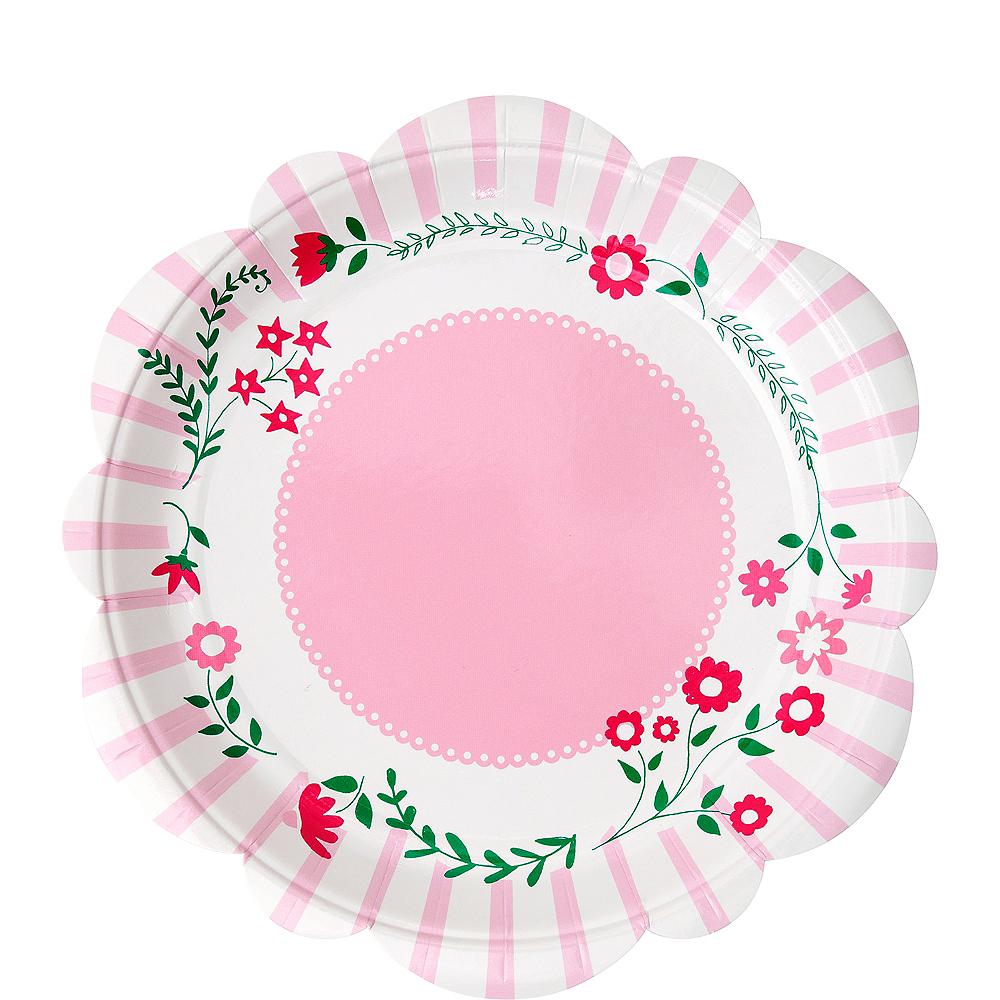 Pink Princess Dessert Plates 12ct Image #1