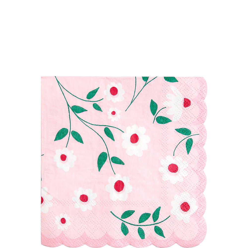 Pink Princess Beverage Napkins 20ct Image #1