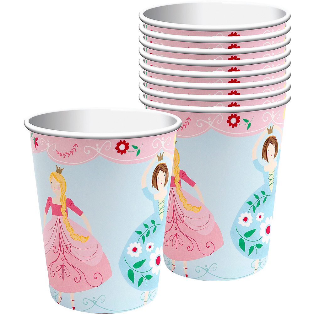 Pink Princess Cups 12ct Image #1