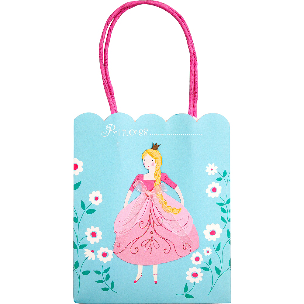 Pink Princess Favor Bags 8ct Image #1