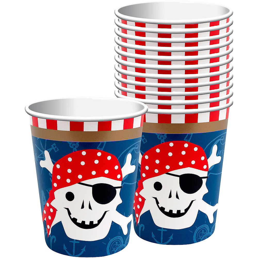 Pirate Cups 12ct Image #1