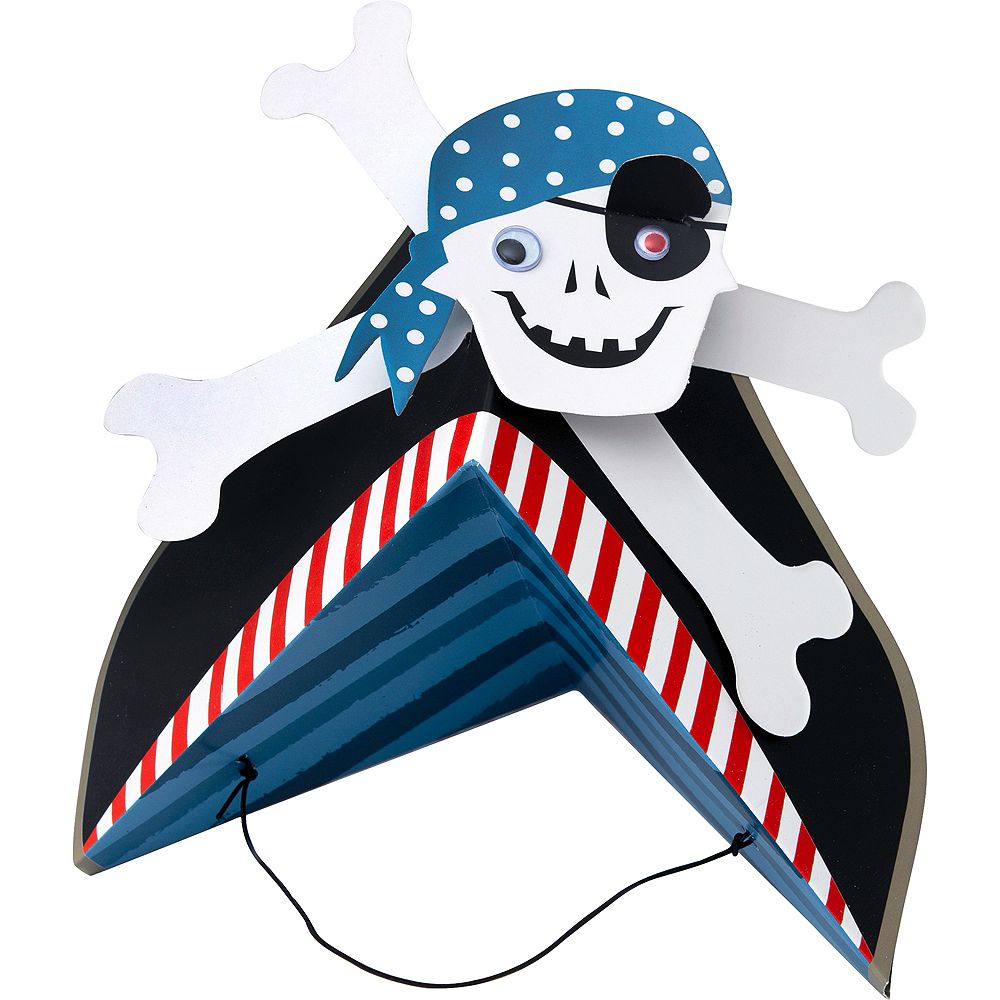 Pirate Party Hats 8ct Image #1