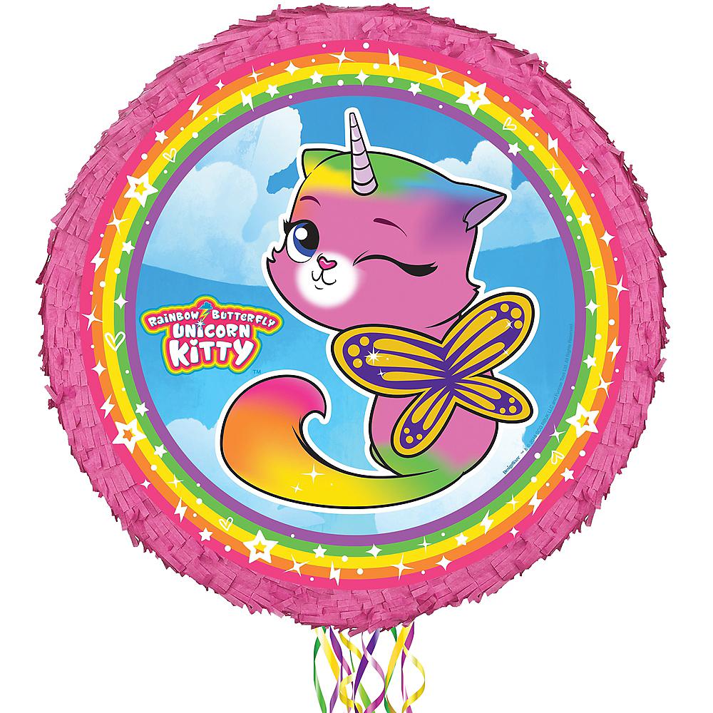 Pull String Rainbow Kitty Unicorn Pinata Image #1