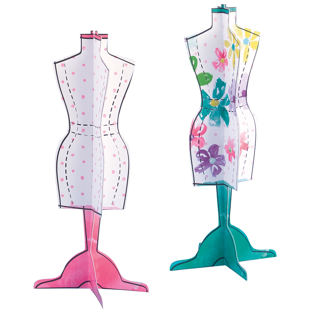 Spa Party Dress Form Centerpieces 2ct Image #1