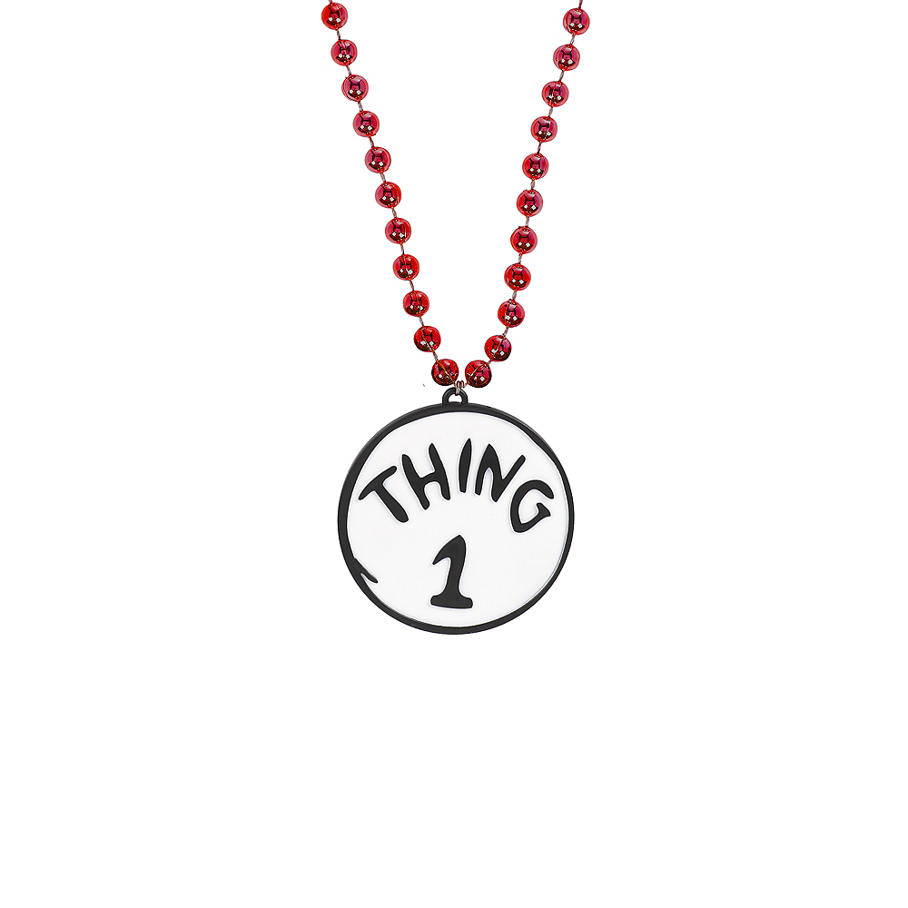 Thing 1 & Thing 2 Pendant Bead Necklace - Dr. Seuss Image #1