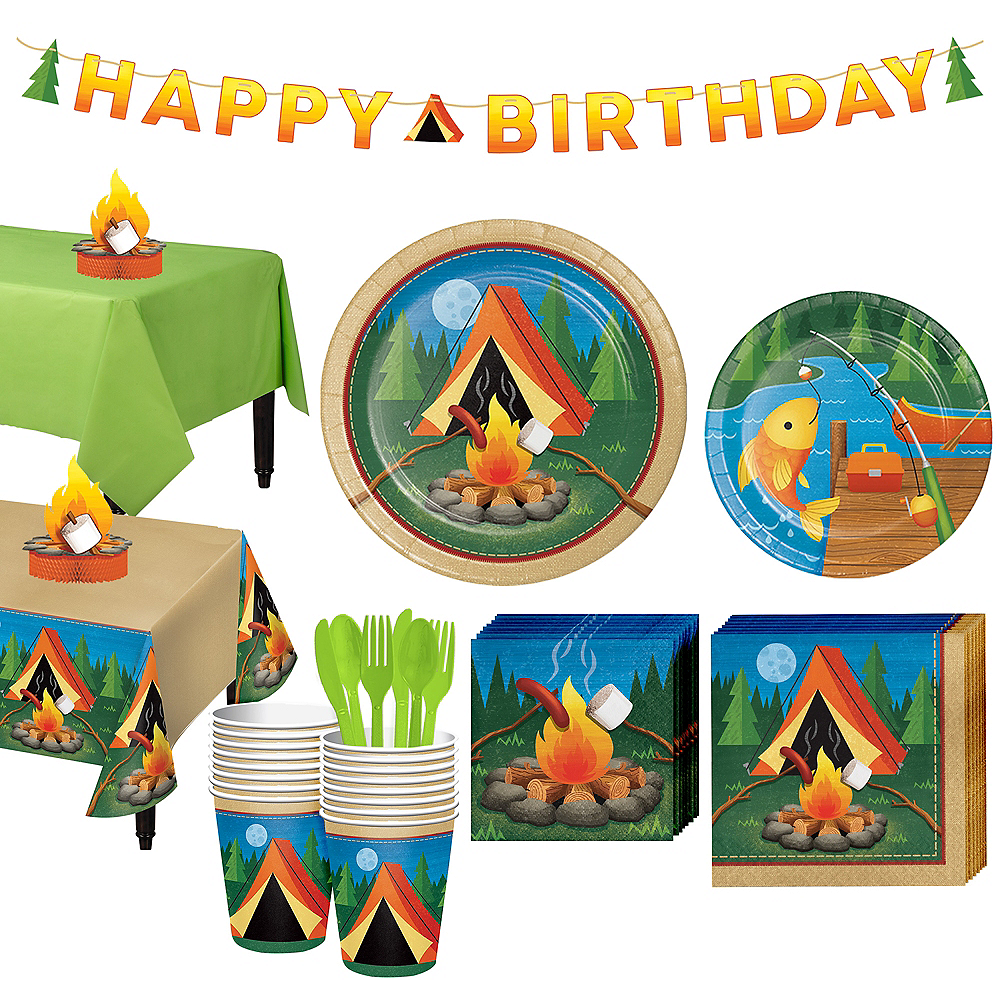 Camping Tableware Party Kit for 16 Guests Image #1