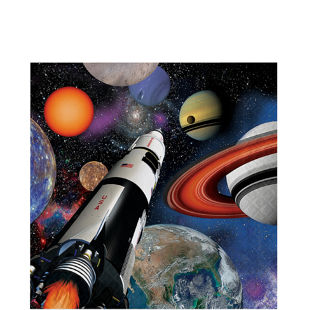 Space Blast Lunch Napkins 16ct Image #1