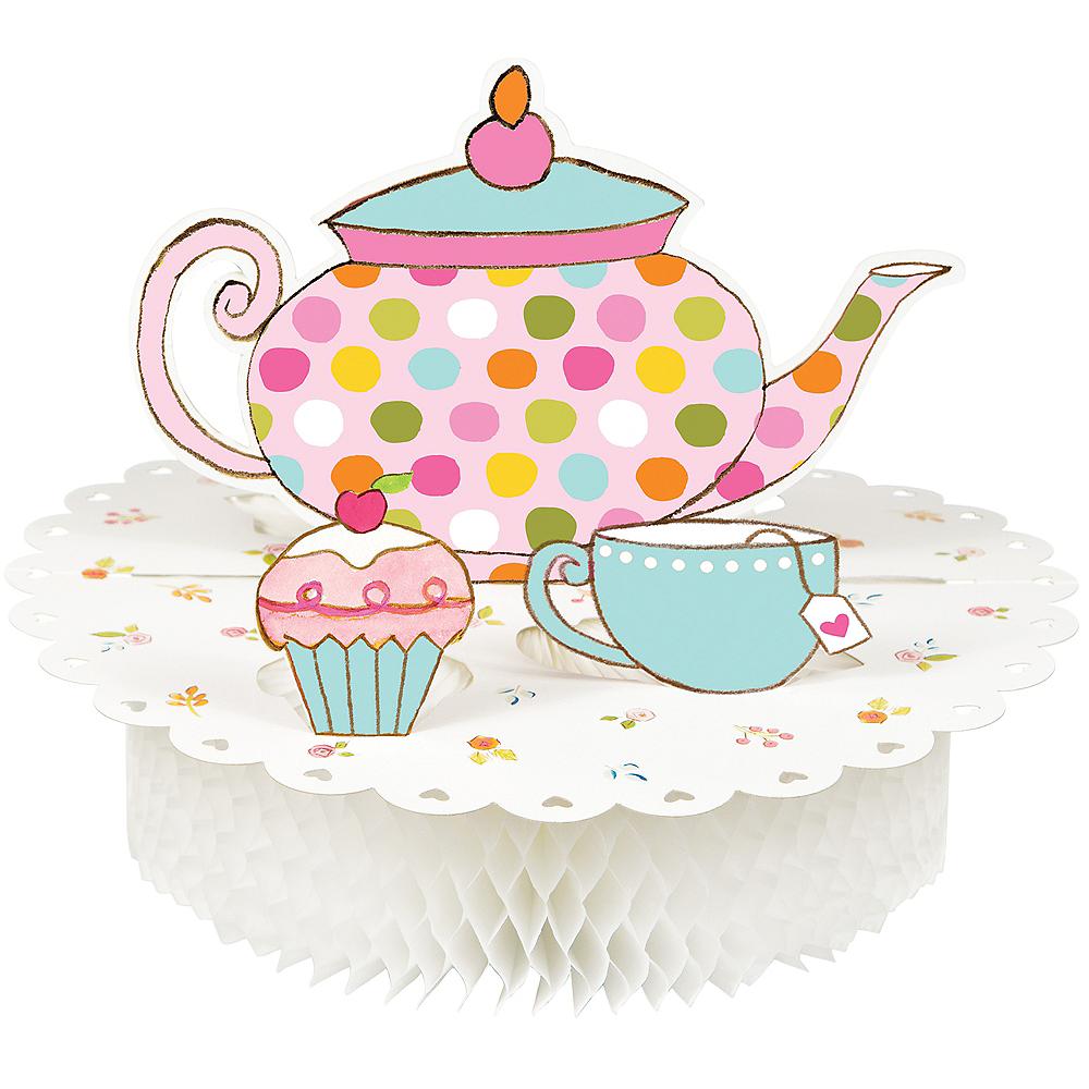 Tea Time Pop-Up Honeycomb Centerpiece Image #1