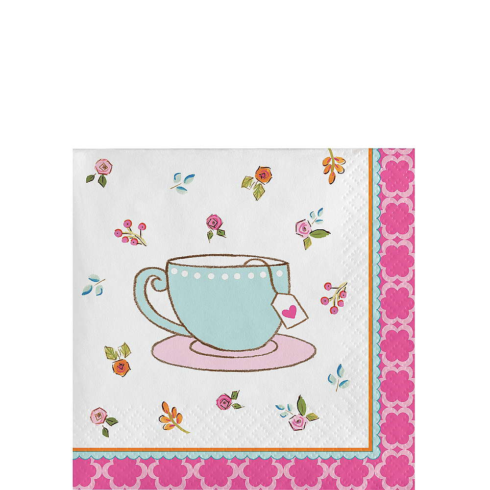 Tea Time Beverage Napkins 16ct Image #1