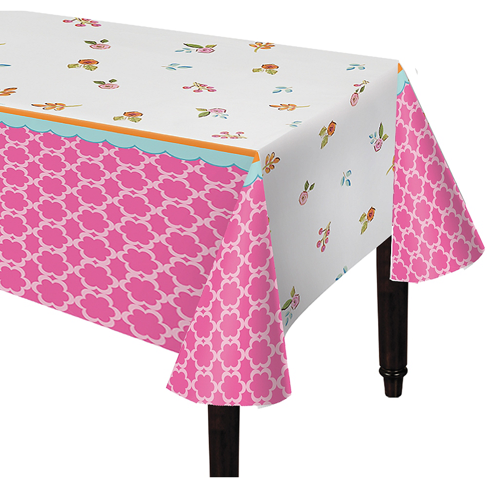 Tea Time Plastic Table Cover Image #1