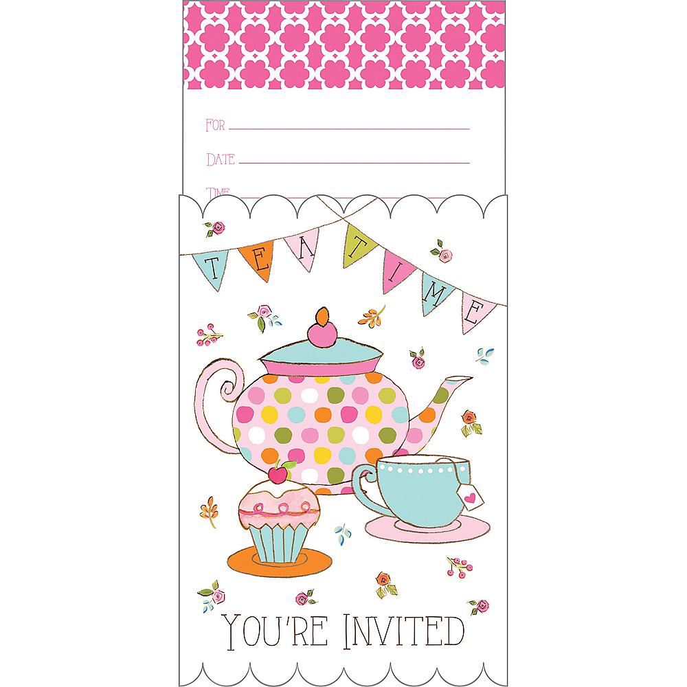 Tea Time Invitations 8ct Image #1