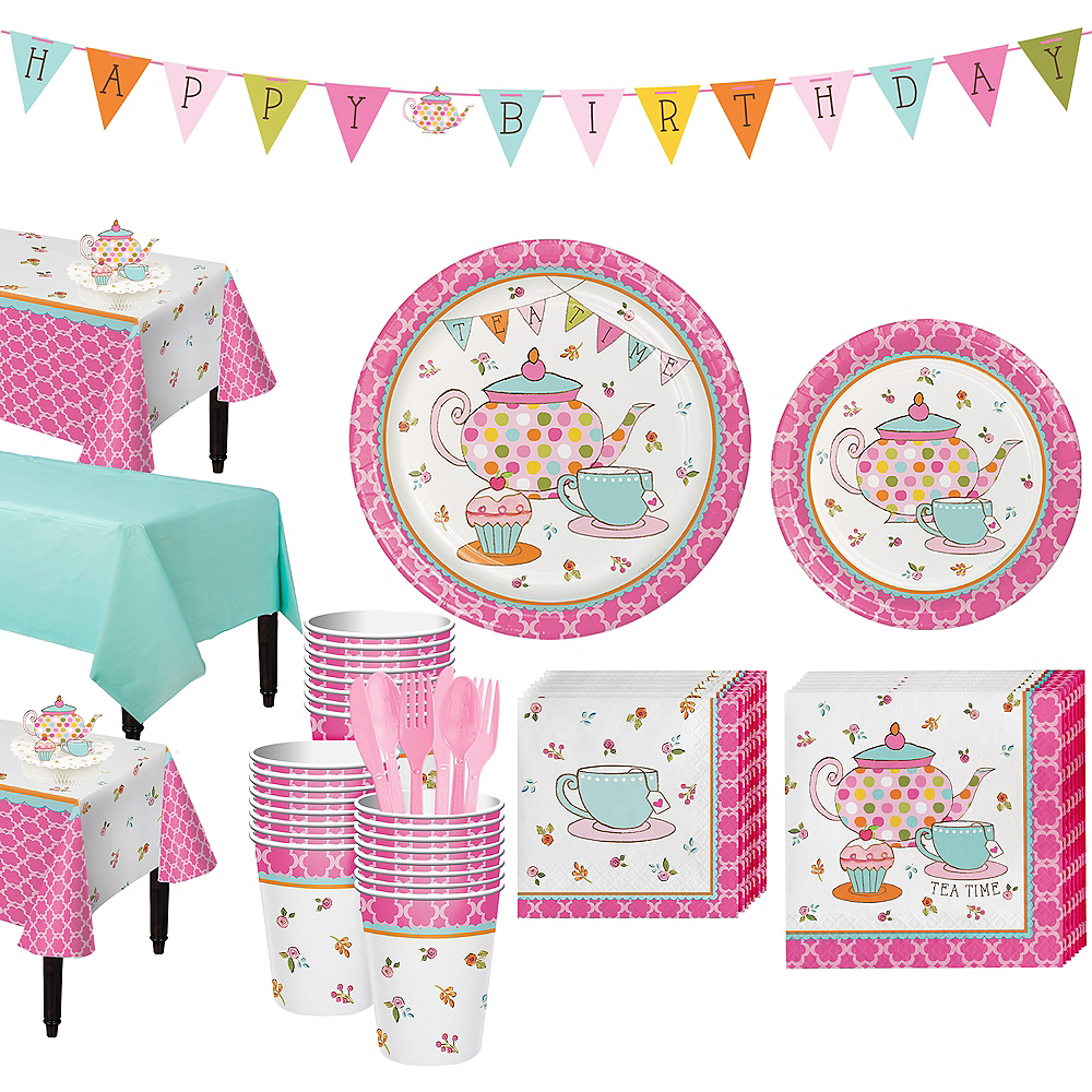 Tea Time Party Kit for 24 Guests Image #1