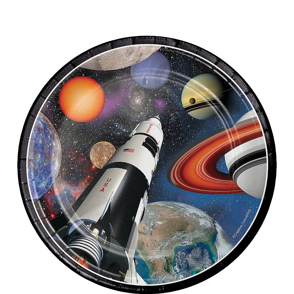 Space Blast Dessert Plates 8ct Image #1