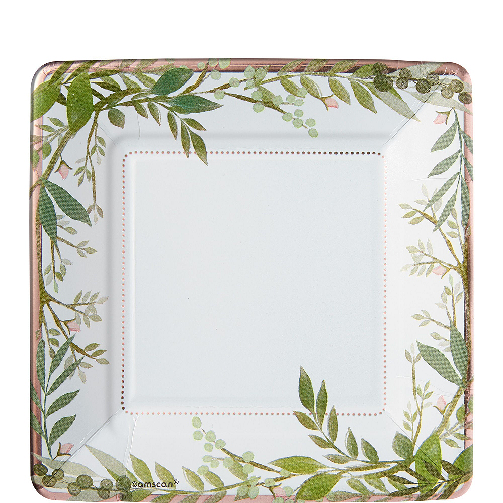 Metallic Floral Greenery Bridal Shower Party Kit for 32 Guests Image #2