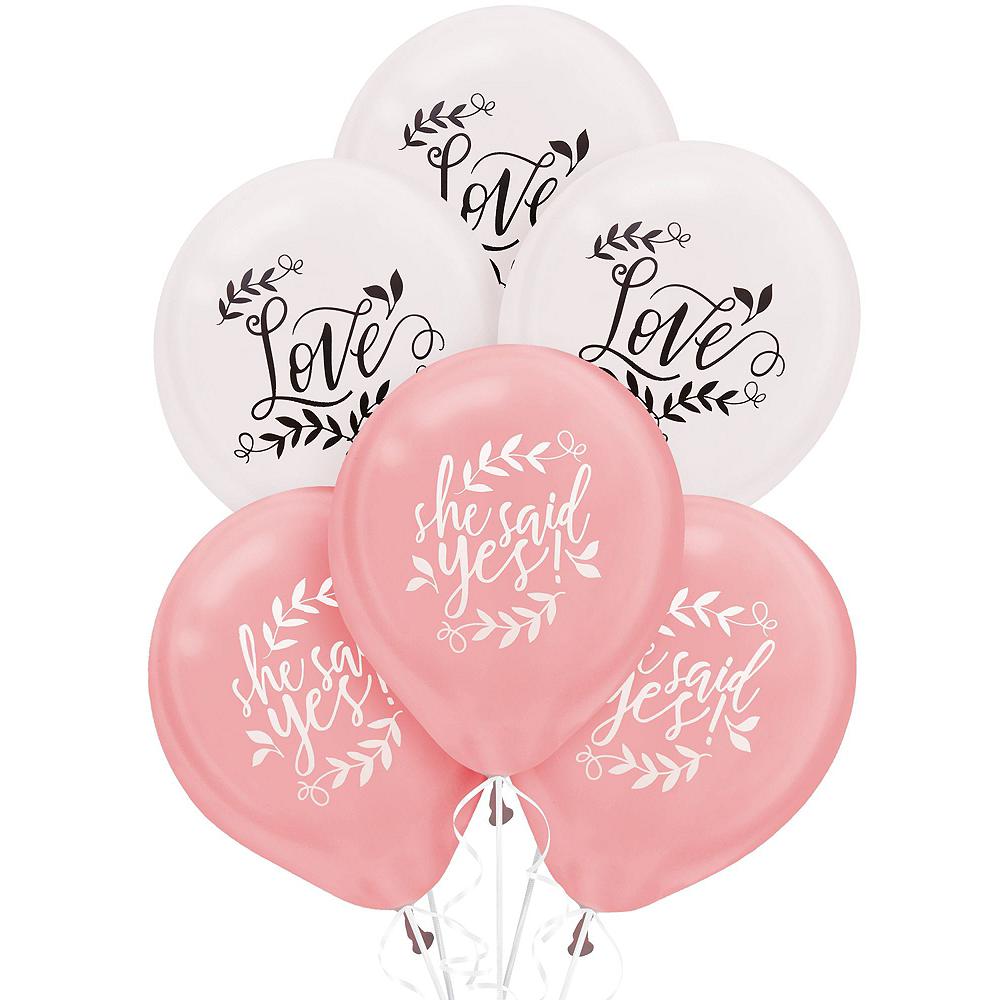 Metallic Floral Greenery Wedding Balloon Kit Image #2