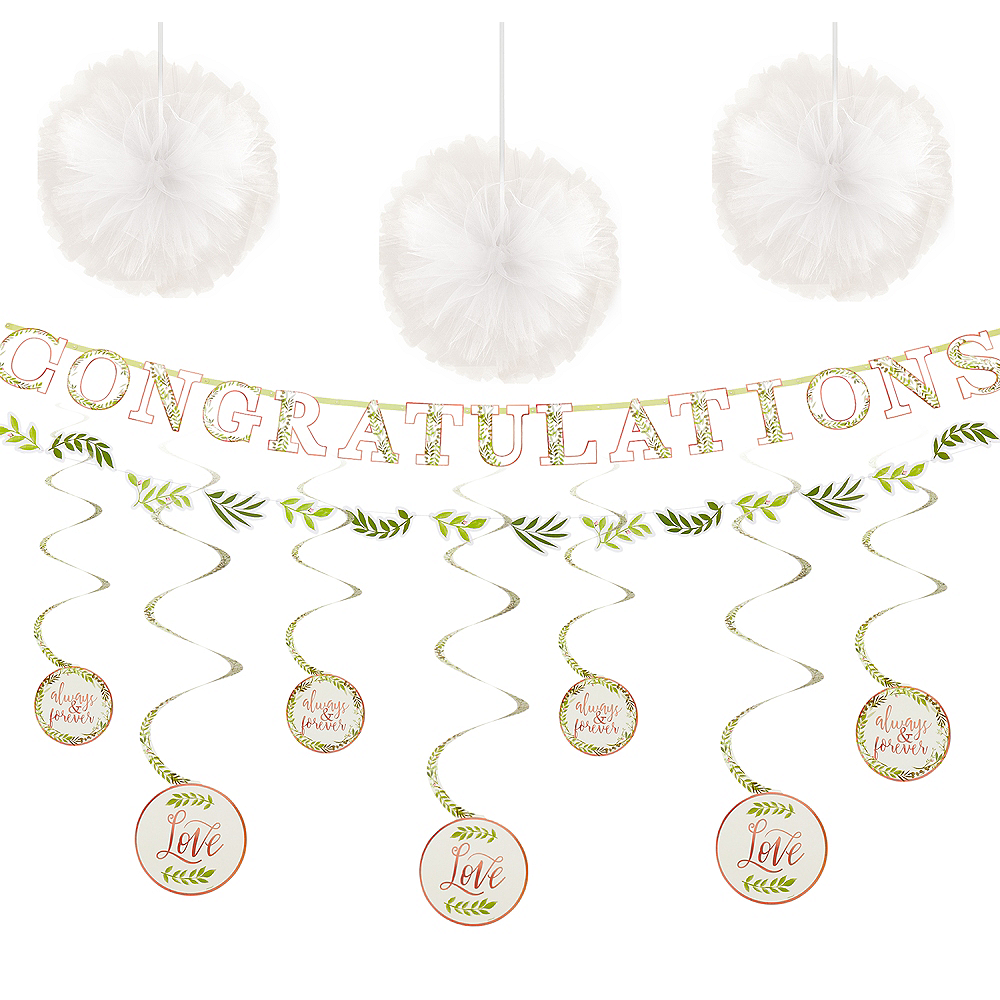 Metallic Floral Greenery Wedding Decorating Kit Image #1