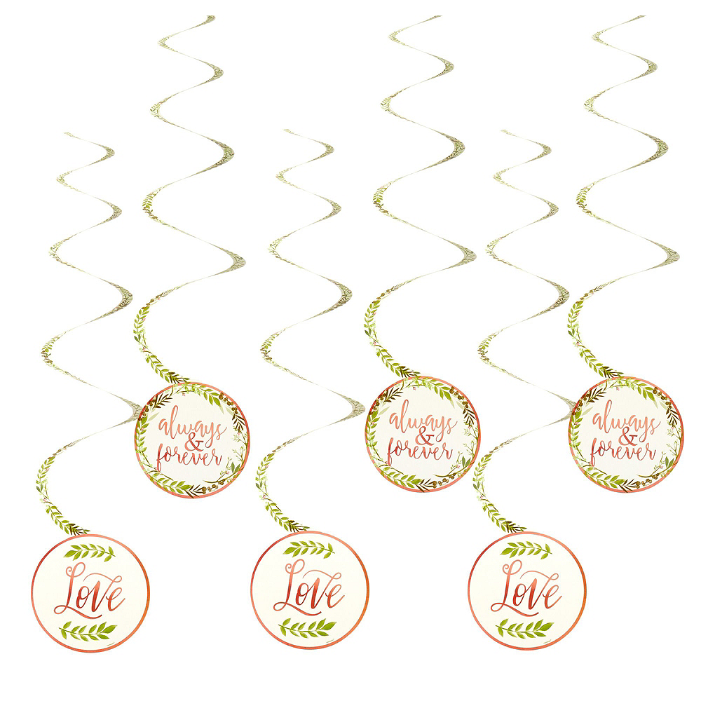 Metallic Floral Greenery Wedding Decorating Kit Image #4