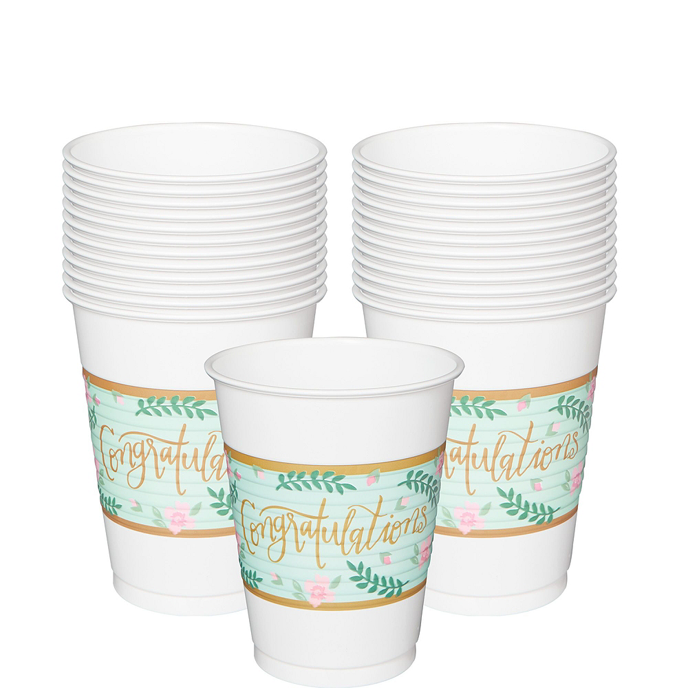 Mint to Be Floral Bridal Shower Party Kit for 32 Guests Image #6