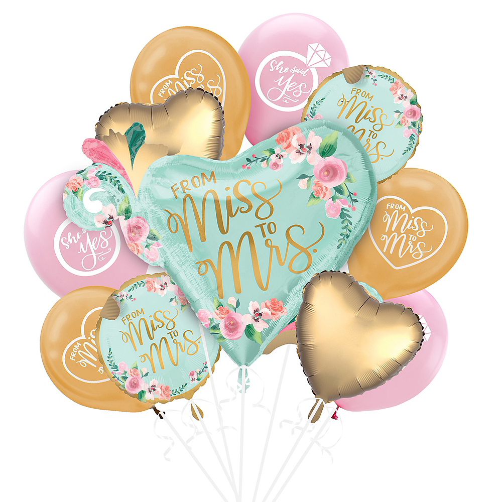 Mint to Be Floral Bridal Shower Balloon Kit Image #1
