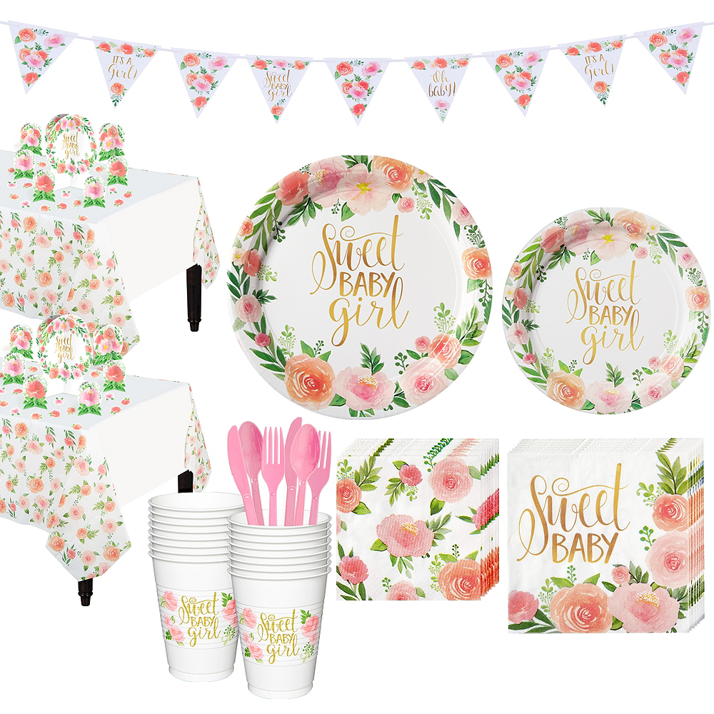 Boho Girl Baby Shower Kit For 16 Guests Party City