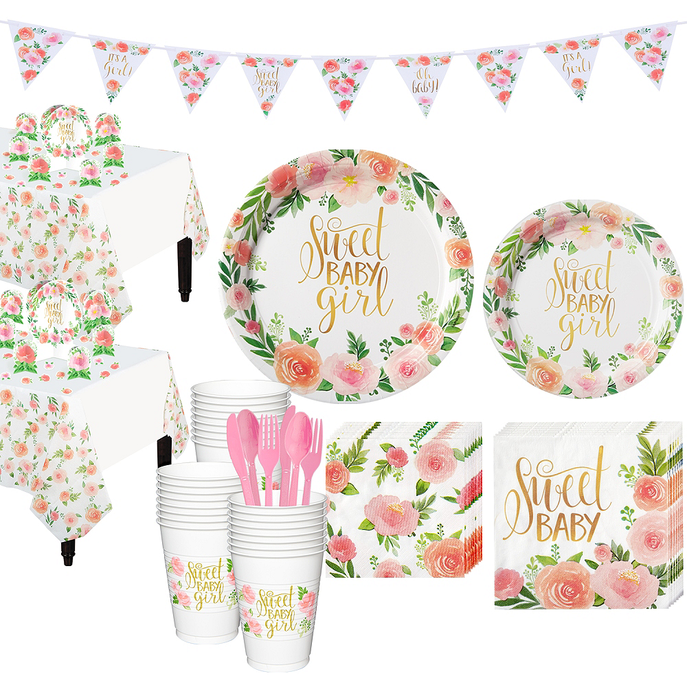 Boho Girl Baby Shower Kit for 32 Guests Image #1