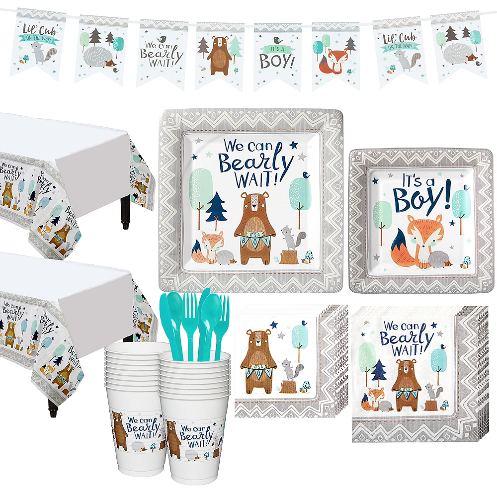 Can Bearly Wait Baby Shower Kit for 16 Guests Image #1