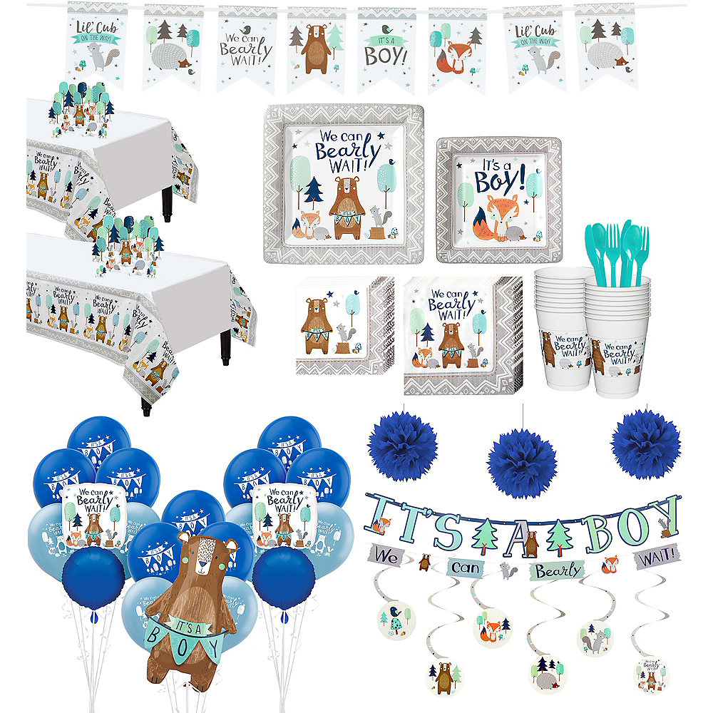 Ultimate Can Bearly Wait Baby Shower Kit for 32 Guests Image #1