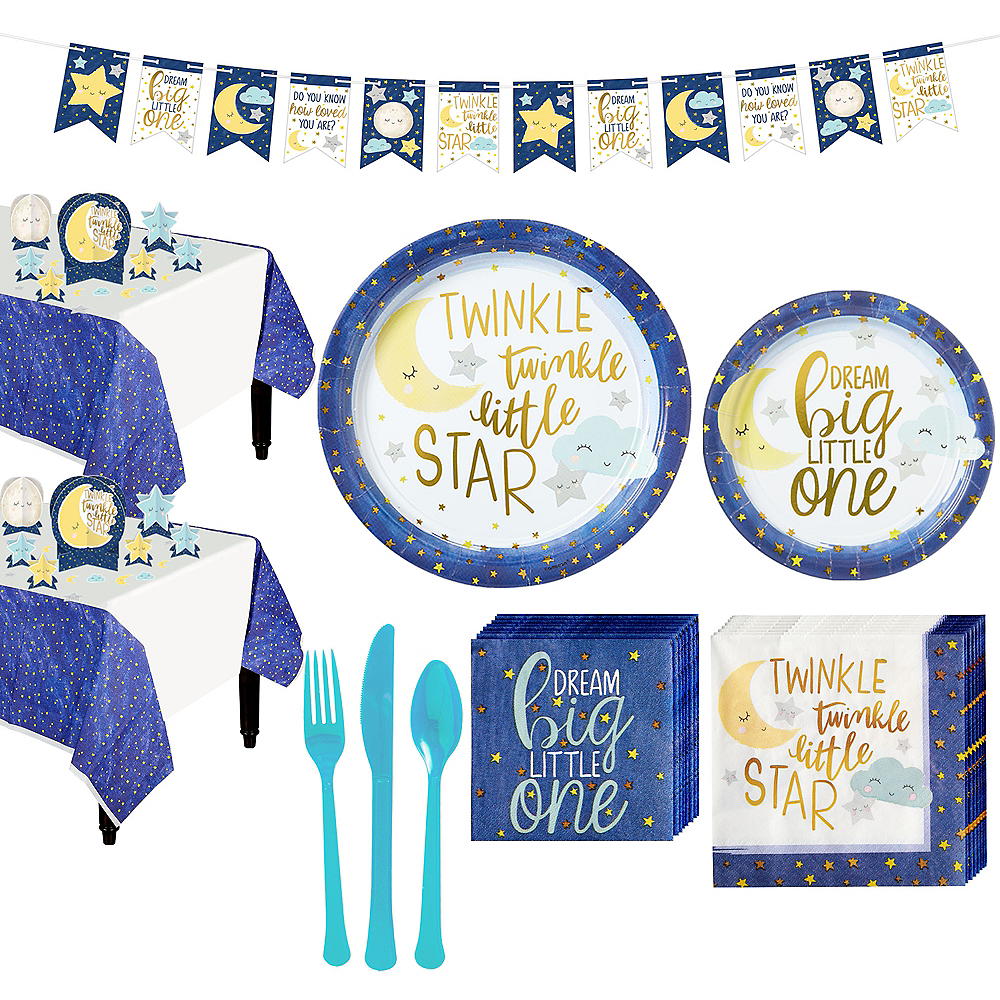 Twinkle Twinkle Little Star Baby Shower Kit for 16 Guests Image #1