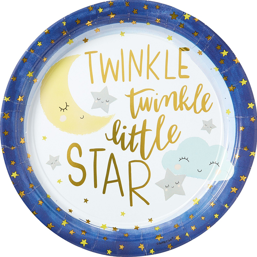 Ultimate Party Supplies And Rental Store In City Of Nashville: Twinkle Twinkle Little Star Baby Shower Kit For 16 Guests