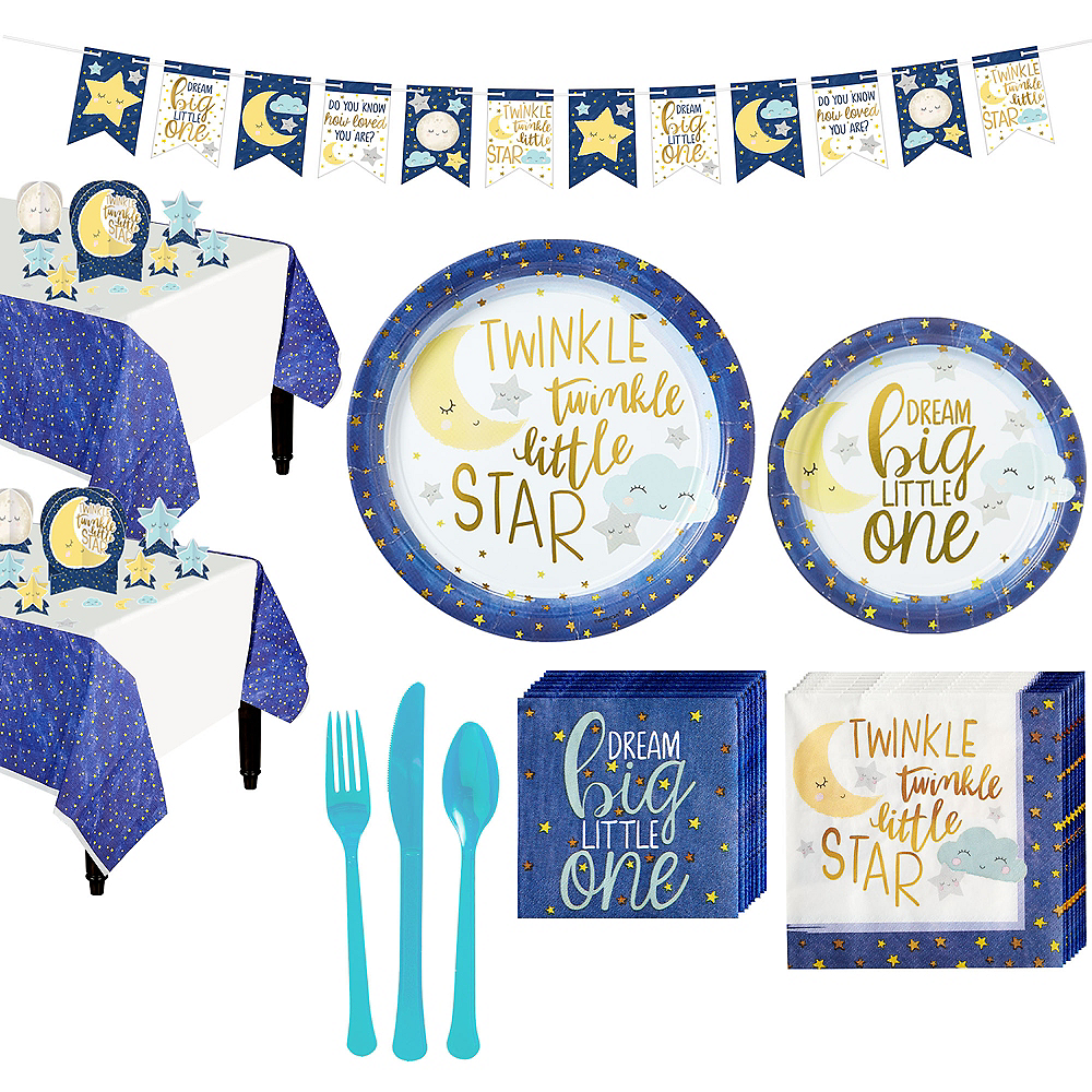 Twinkle Twinkle Little Star Baby Shower Kit for 32 Guests Image #1