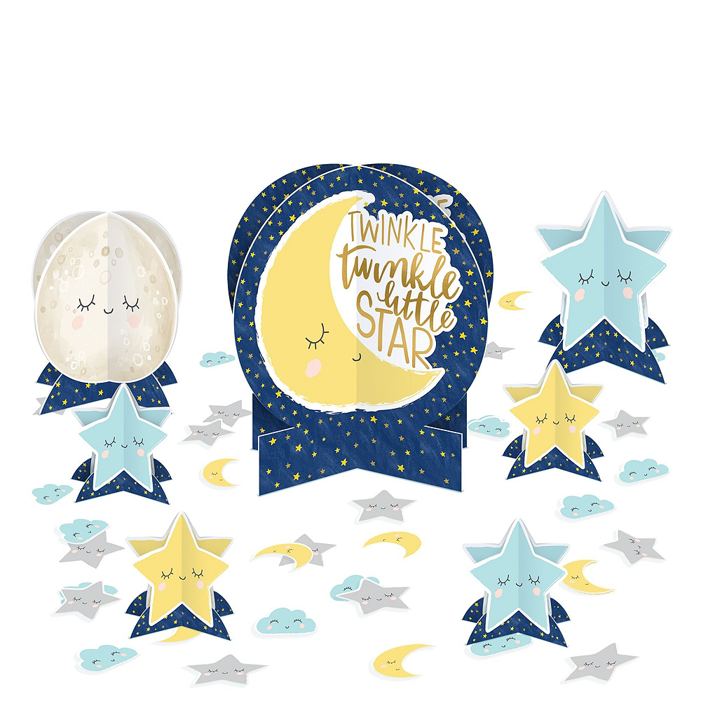 Twinkle Twinkle Little Star Baby Shower Kit for 32 Guests Image #9