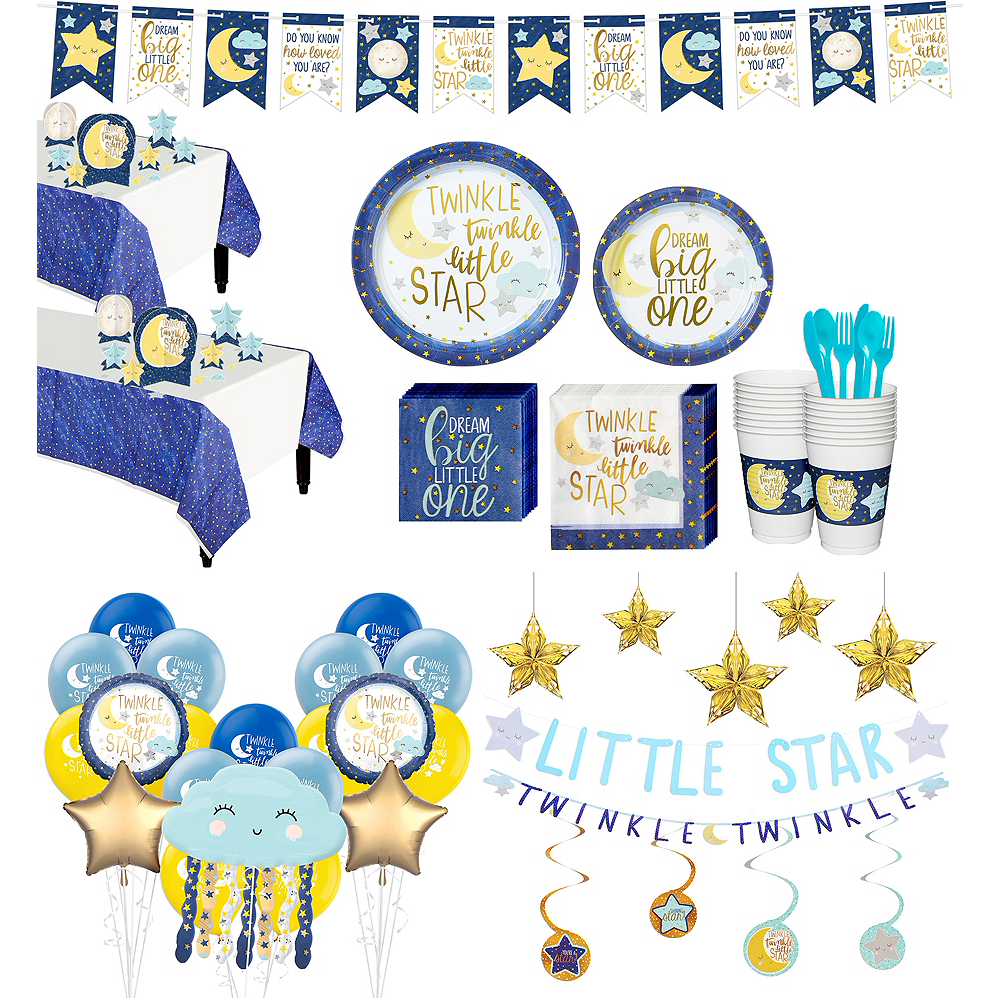 Nav Item for Ultimate Twinkle Twinkle Little Star Baby Shower Kit for 32 Guests Image #1