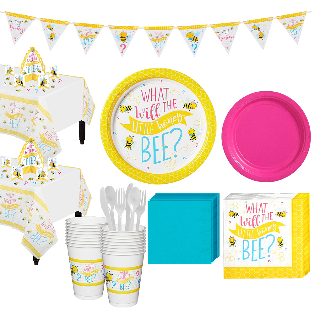 Little Honey Bee Gender Reveal Party Kit for 16 Guests Image #1