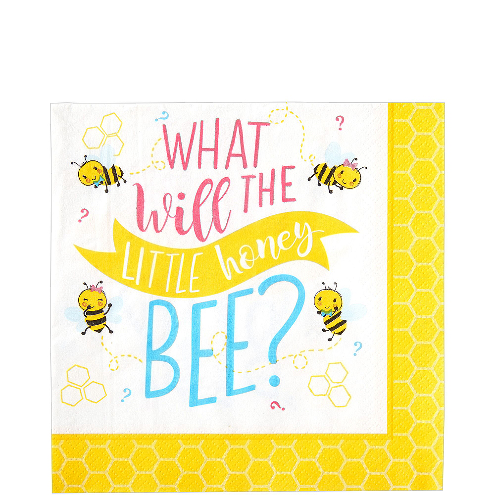 Little Honey Bee Gender Reveal Party Kit for 16 Guests Image #4