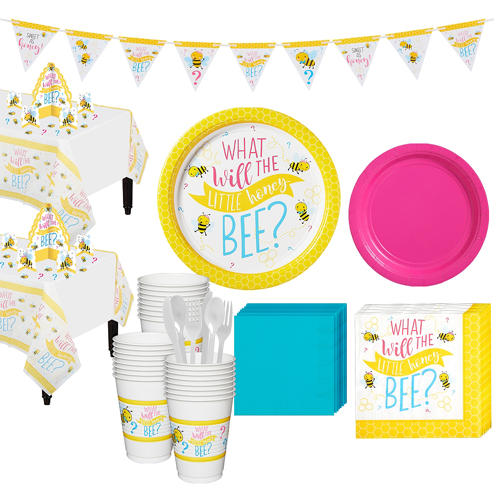 Little Honey Bee Gender Reveal Party Kit for 32 Guests Image #1