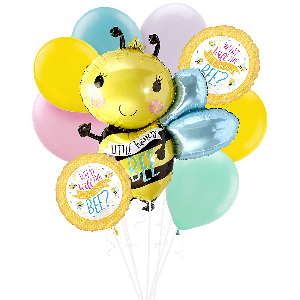Little Honey Bee Gender Reveal Party Balloon Kit Image #1
