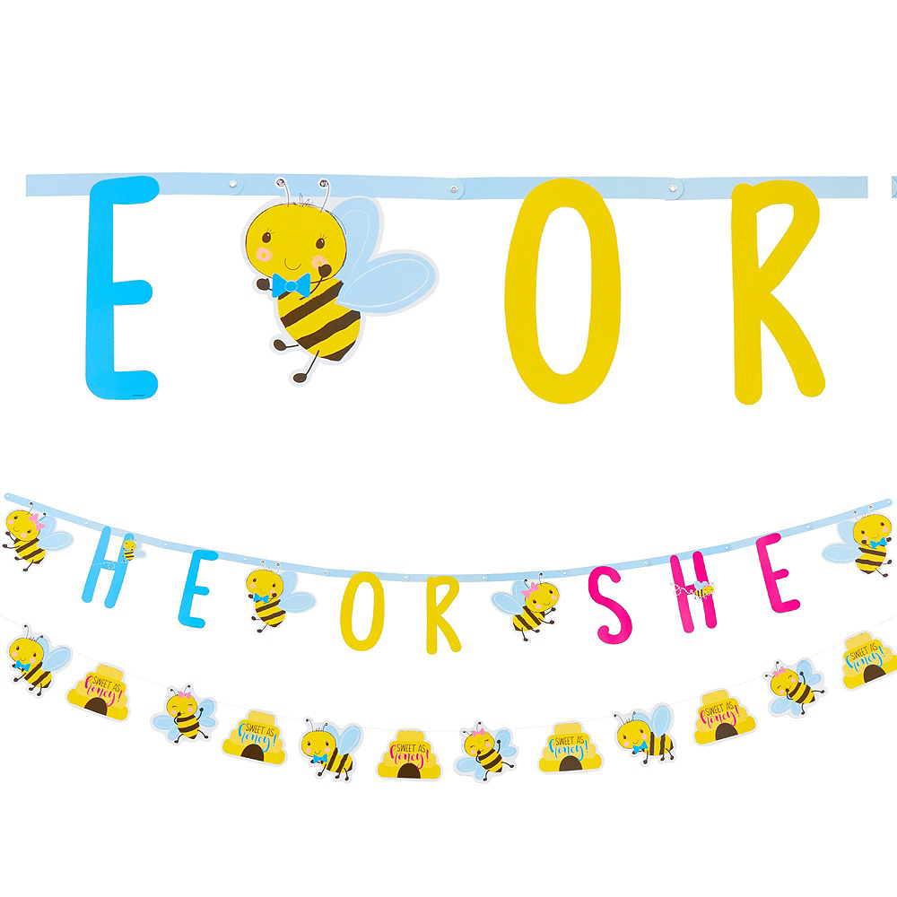 Little Honey Bee Gender Reveal Party Decorating Kit Image #2