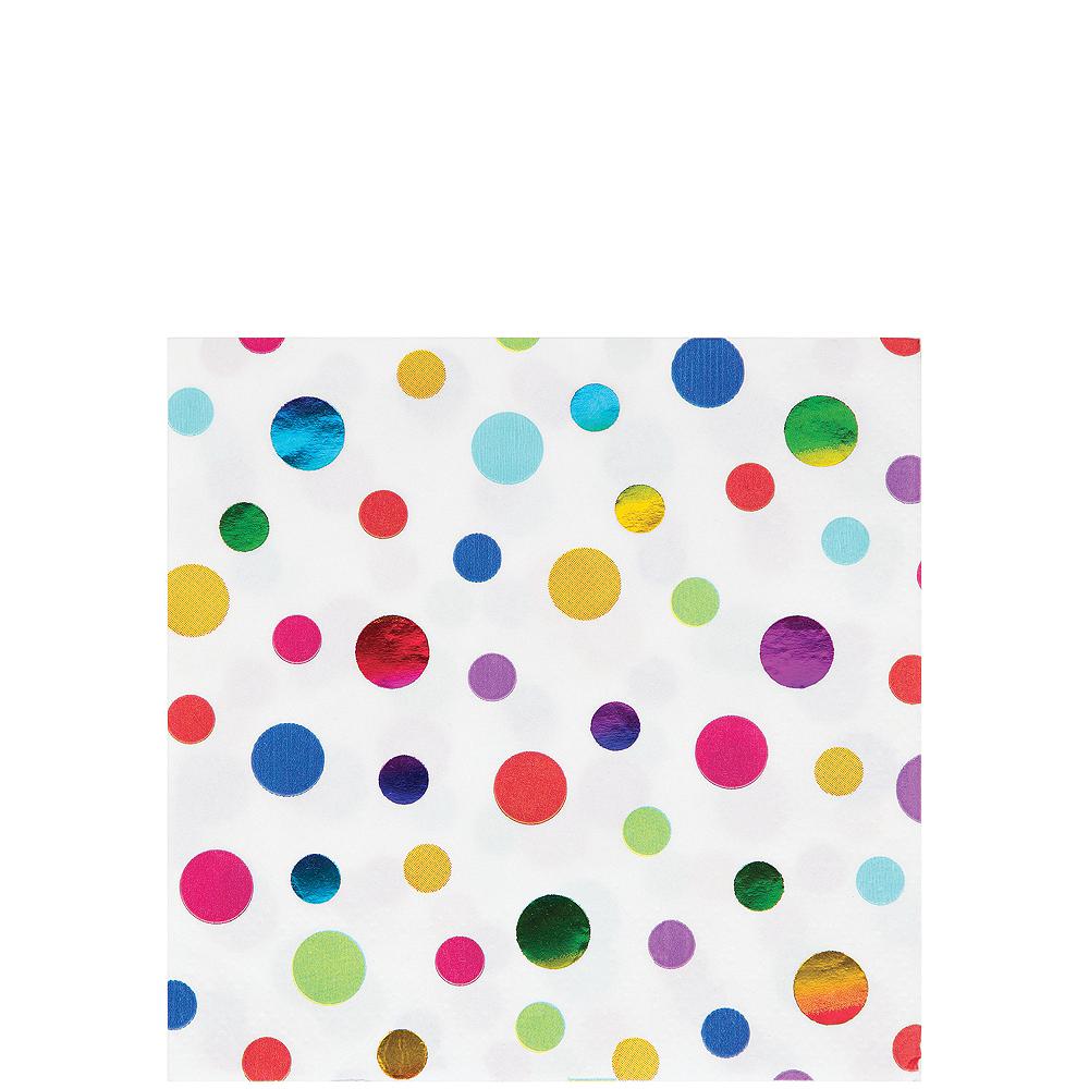 Metallic Rainbow Dot Beverage Napkins 16ct Image #1